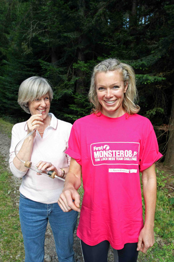 Prof Jenny Mordue and Nell McAndrew