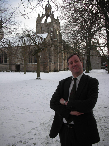 Professor Alister McGrath outside King's C ollege