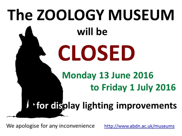 Zoology Museum Closure 13th June - 1st July 2016 | News ...