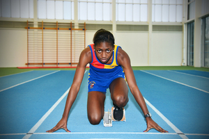 Demi Ademuyewo under starters orders for her professional sprinting career