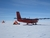 A British Antarctica Survey Twin Otter Aircraft - on which the radar system used in the survey was mounted – at a field camp in West Antarctica
