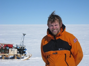 Dr Rob Bingham at a field camp in West Antarctica