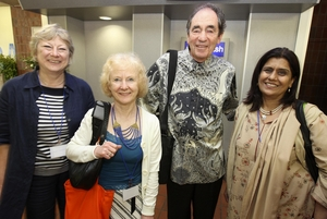 Biddy Fisher (wife of the Executive Director of the Association of Commonwealth Universities), Dr Hilary Homans, Justice Albie Sachs, and Professor Saeeda Khan (Vice Chancellor of the Fatima Jinnah Women's University in Pakistan)