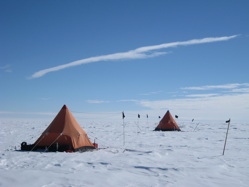 Field camp on Ferrigno Ice Stream