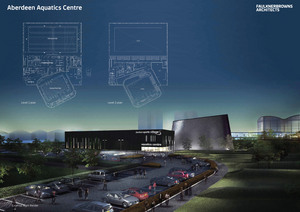 Artist's impression of the new aquatic centre