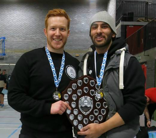4f2f45c2173b Left to right  Jonathan Wardell and Davinder Kalsi from Aberdeen University  Weightlifting Club celebrate their success