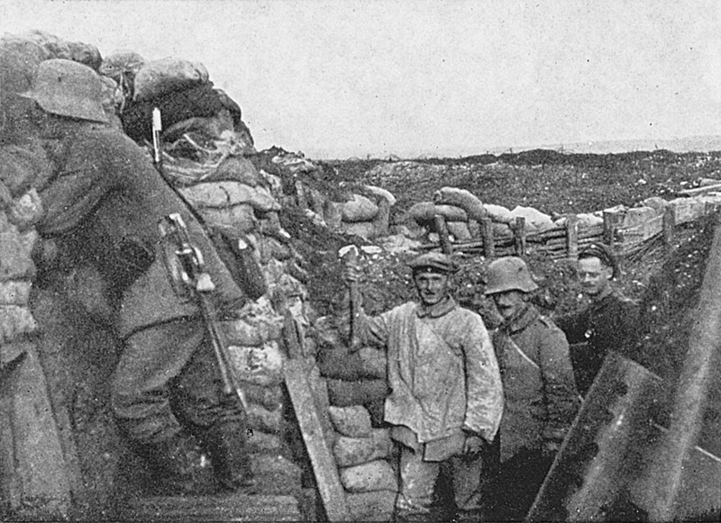 Soldiers from Hitler's regiment on Vimy Ridge, late 1916 or early 1917