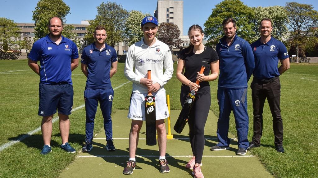 Cricket Stars At University Of Aberdeen Ahead Of Sri Lanka