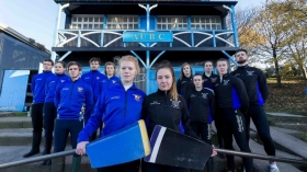 Erin Wyness (RGUBC) and Fiona Bell (AUBC) hope to lead their teams to victory in the 2017 Aberdeen Boat Race, sponsored by Aberdeen Asset Management