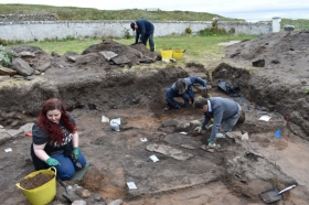 University of Aberdeen archaeologists have discovered interesting artefacts at an ancient Pictish fort