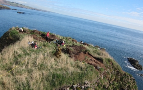 Excavations underway on top of Dunnicaer