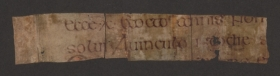 A fragment from the new discovery which could shed light on 'The Book of Kells'
