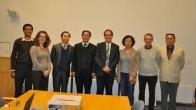 left to right: Dr Nimesh Mody, Dr Mirela Delibegovic, Prof Shuchun Li, Prof Zongran Pang, Prof Colin McCaig, Dr Jin Pu, Prof Kevin Docherty, Dr. Ritu Wu