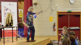 Marty Jopson from the BBC's One Show wows crowds during the University of Aberdeen's May Festival