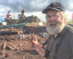 Dr Rick Knecht at the Nunalleq archaeological site