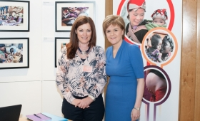 Immpact's Shelagh Barr with First Minister, Nicola Sturgeon