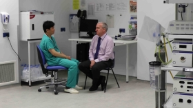 Dr Thomas Lam and Andrew Mackie, one of the patient volunteers who contributed to the study