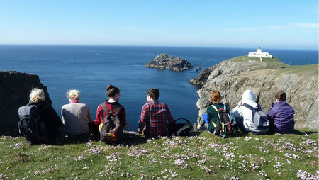 Students on field trip at Bettyhill