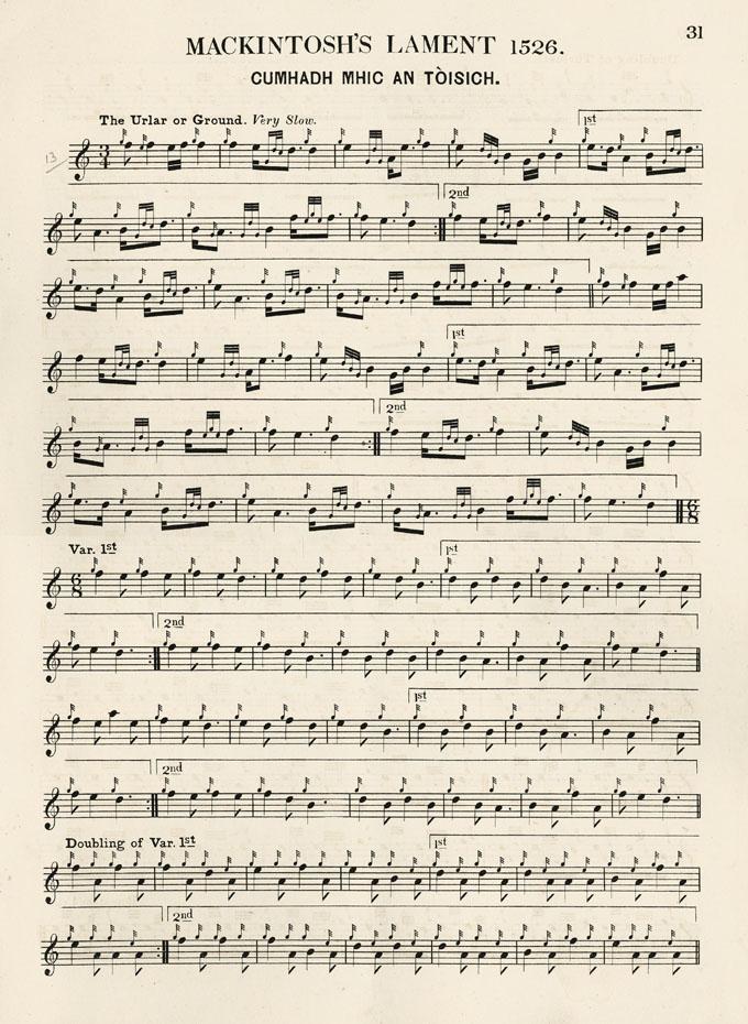 Mackintosh's Lament 1526 - The Music of James Scott Skinner