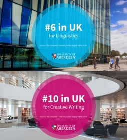 Linguistics and Creative Writing top 10 in the Complete University Guide rankings