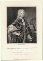 B1 040 - John Campbell, 2nd Duke of Argyll and Duke of Greenwich (1678-1743)