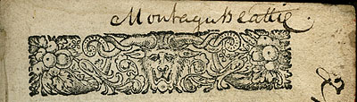 Montagu Beattie signature