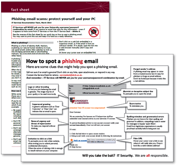 How to spot a phishing email fact sheet