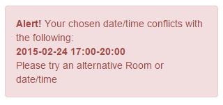 Booking Clash